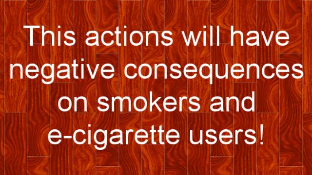 Negativne posledice predvidene regulacije