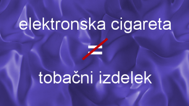 Enačenje tobačnih cigaret z elektronskimi – nedopustno